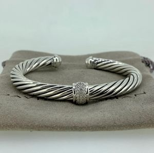 David Yurman Pave Diamond Singel Station Bracelet
